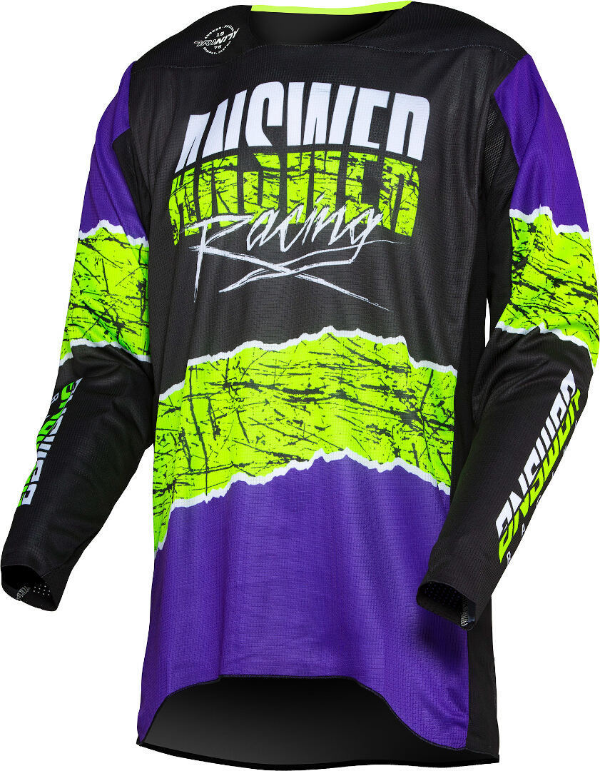 Answer Trinity Pro Glow Motocross Jersey, schwarz-gelb, Größe 2XL, schwarz-gelb, Größe 2XL