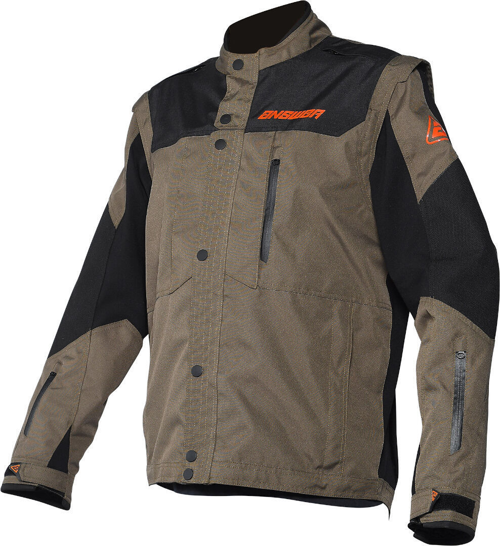 Anwser OPS Motocross Jacke, schwarz-braun, Größe 2XL, schwarz-braun, Größe 2XL