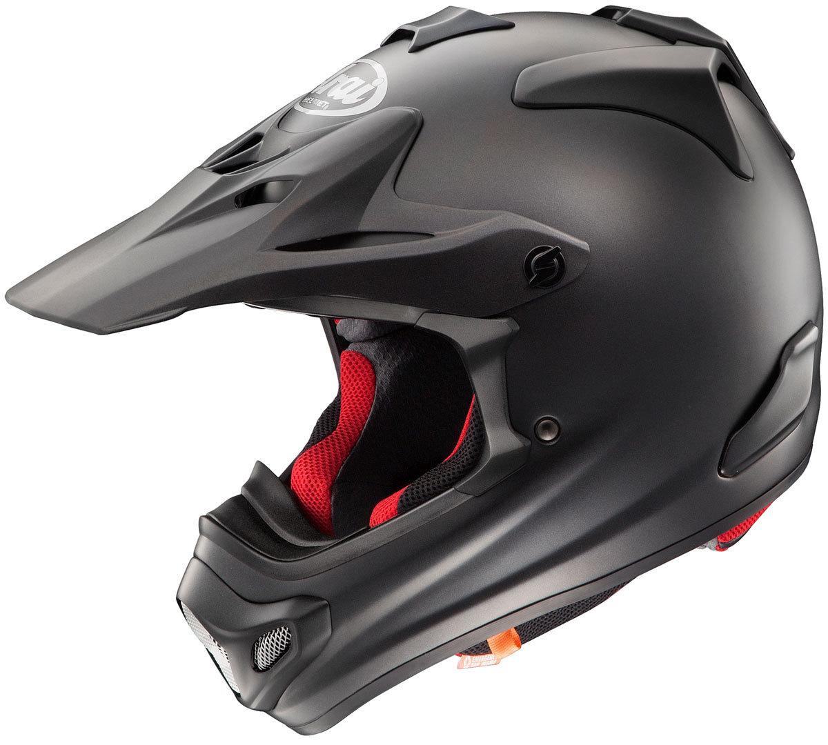 Arai MX-V Solid Frost Motocross Helm, schwarz, Größe XS, schwarz, Größe XS