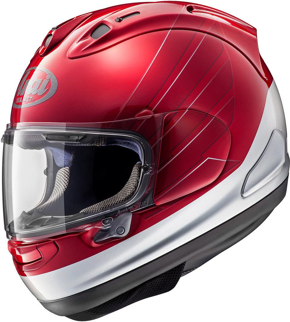 Arai RX-7V Honda CB Helm, rot-silber, Größe XS, rot-silber, Größe XS