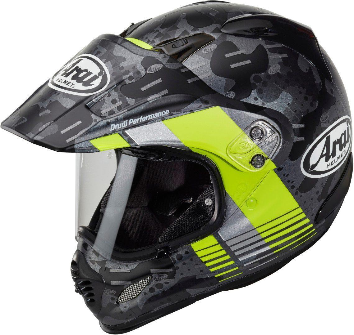 Arai Tour-X4 Cover Motocross Helm, grau-gelb, Größe XS, grau-gelb, Größe XS