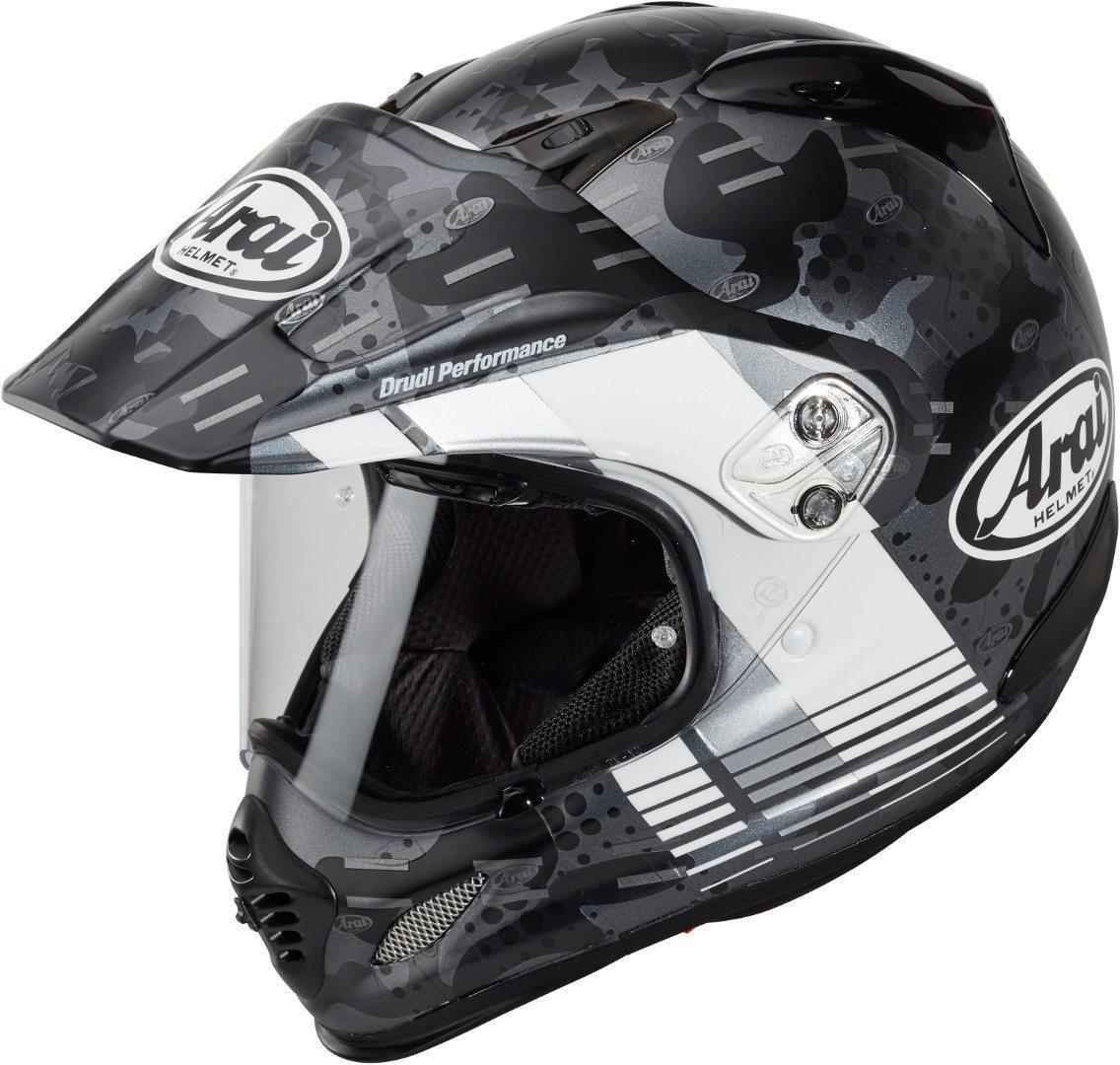 Arai Tour-X4 Cover Motocross Helm, grau-weiss, Größe XS, grau-weiss, Größe XS