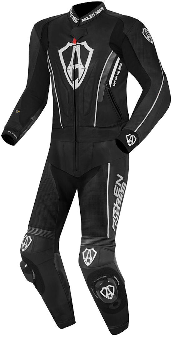 Arlen Ness Losail 2-Teiler Lederkombi, schwarz-weiss, Größe 60, schwarz-weiss, Größe 60
