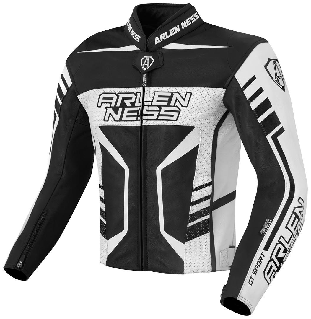 Arlen Ness Rapida 2 Motorrad Lederjacke, schwarz-weiss, Größe 54, schwarz-weiss, Größe 54