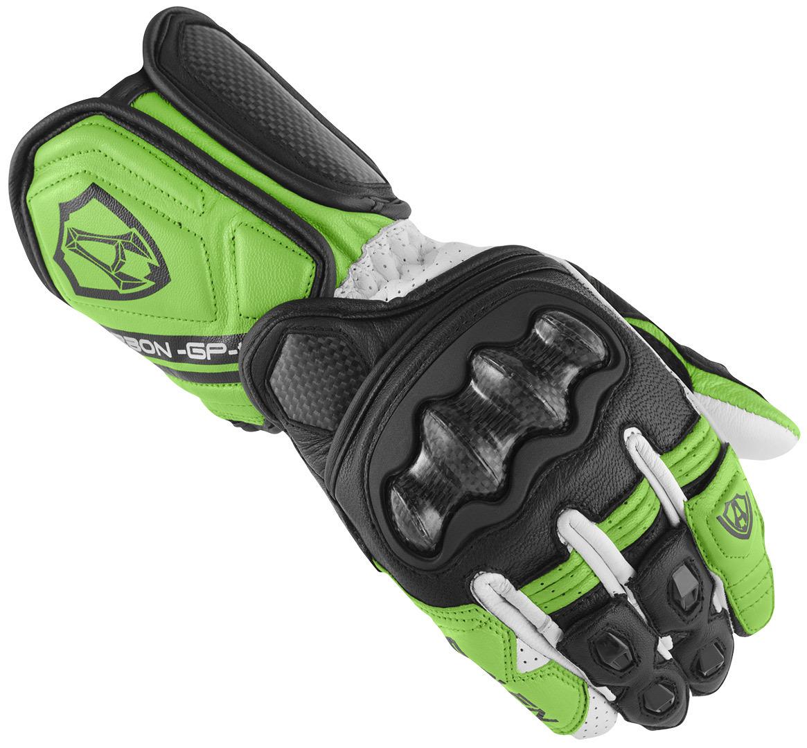 Arlen Ness RG-X Motorradhandschuhe, schwarz-weiss-grün, Größe S, schwarz-weiss-grün, Größe S