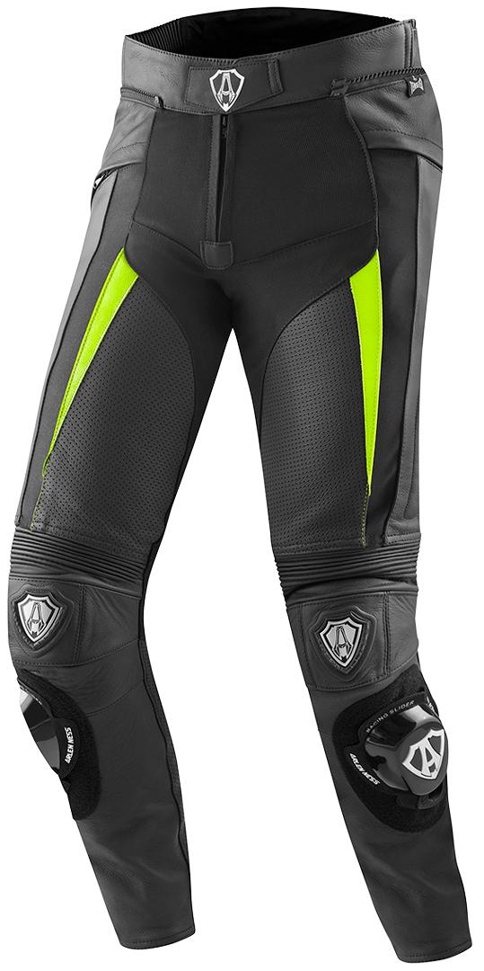 Arlen Ness Sugello Motorrad Lederhose, schwarz-gelb, Größe 48, schwarz-gelb, Größe 48