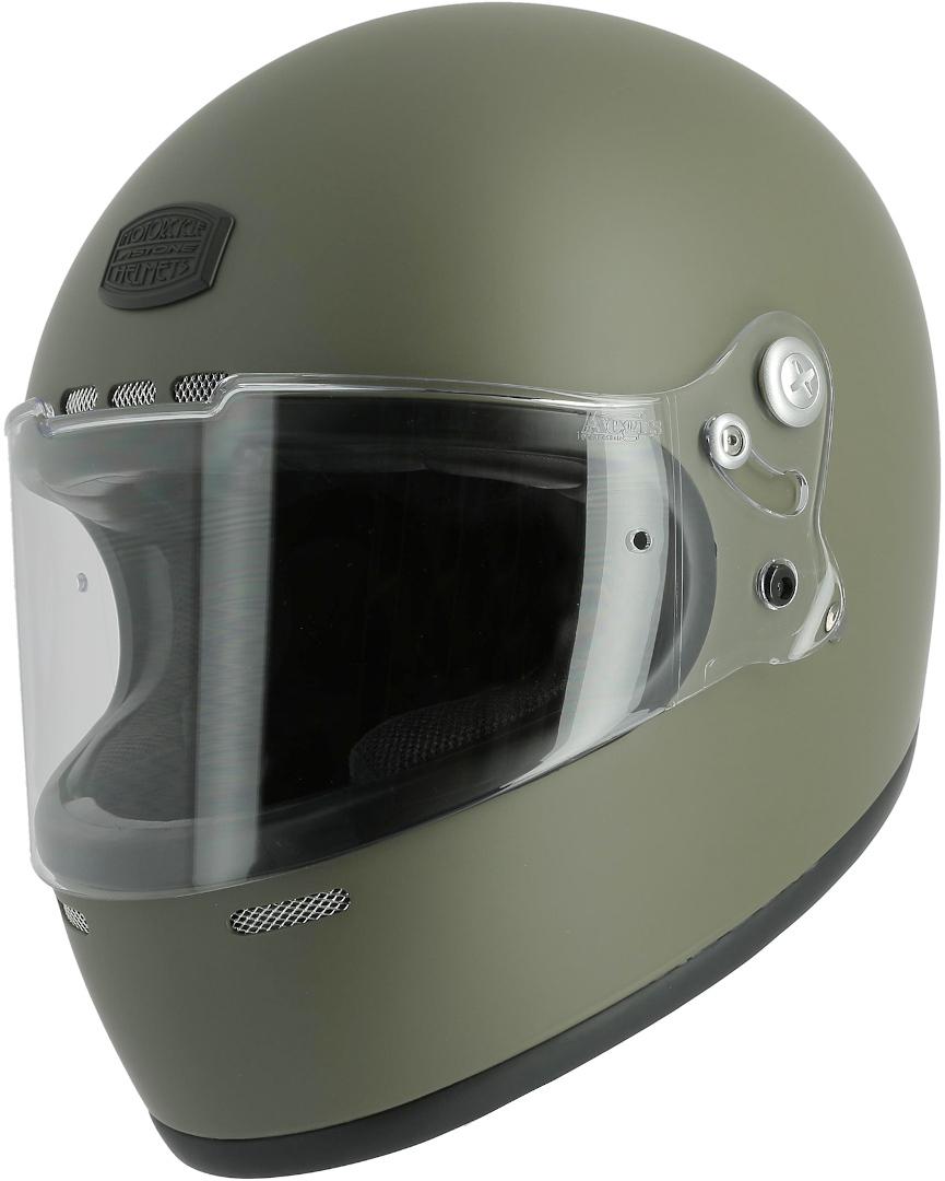 Astone GT Retro Monocolor Helm, grün, Größe XS, grün, Größe XS
