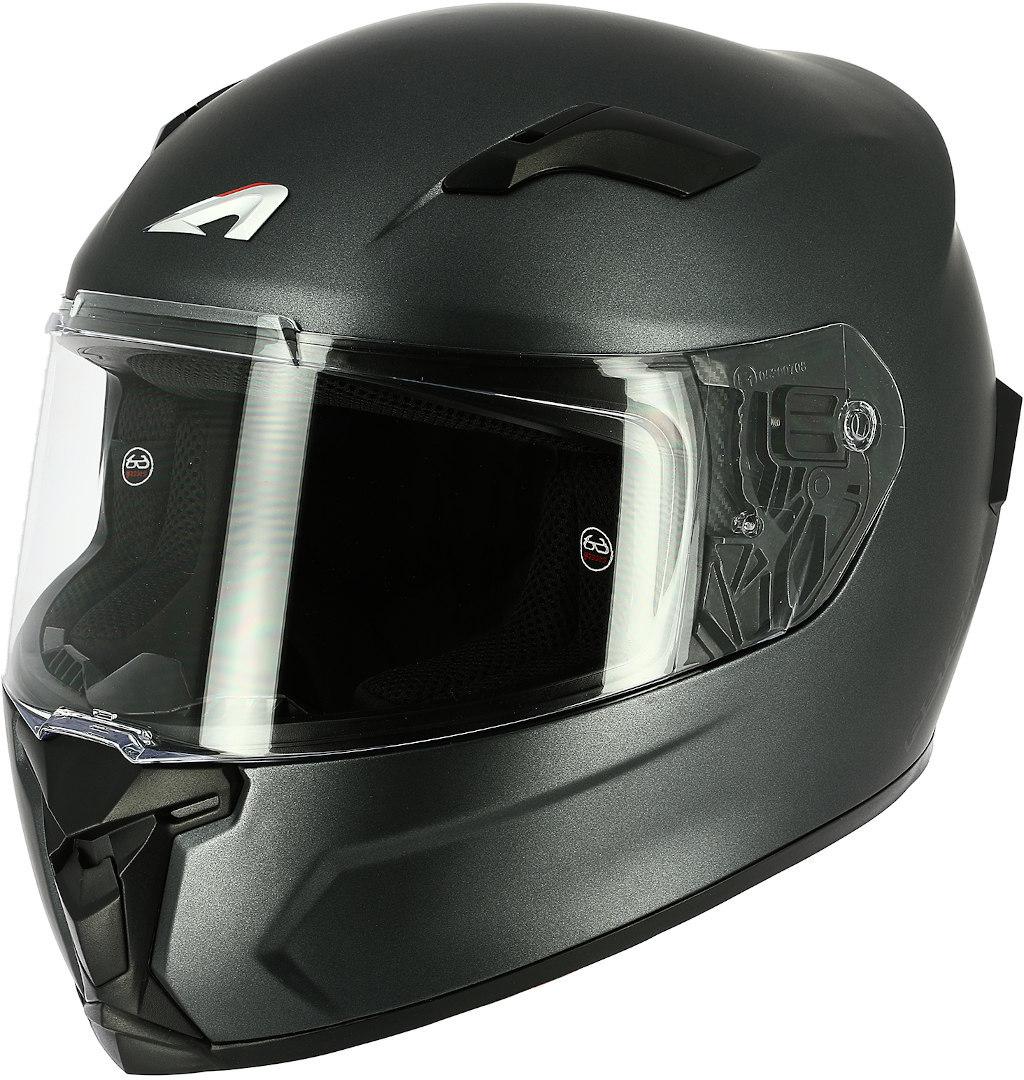 Astone GT3 Monocolor Helm, silber, Größe XS, silber, Größe XS