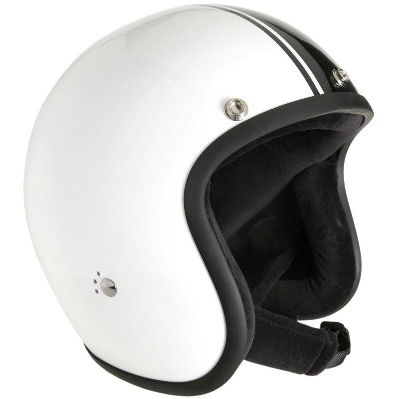 Bandit Jet Classic Jethelm, schwarz-weiss, Größe S, schwarz-weiss, Größe S