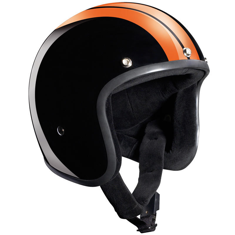 Bandit Jet Race Jethelm, schwarz-orange, Größe S, schwarz-orange, Größe S