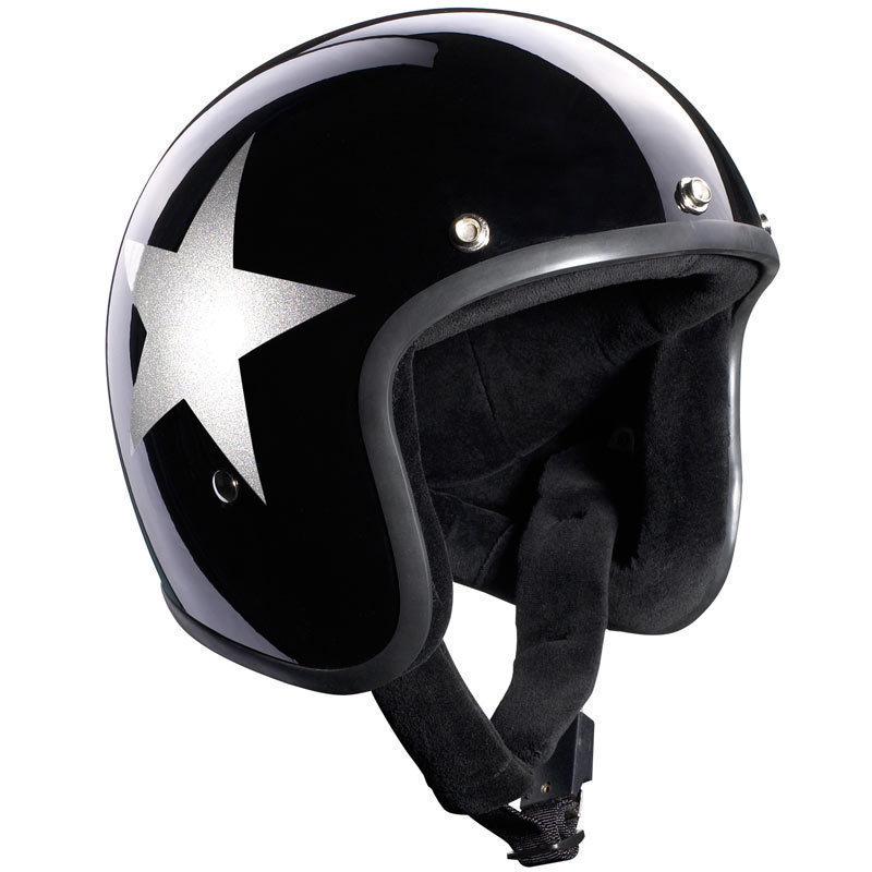 Bandit Jet Star Black Jethelm, schwarz-silber, Größe XL, schwarz-silber, Größe XL