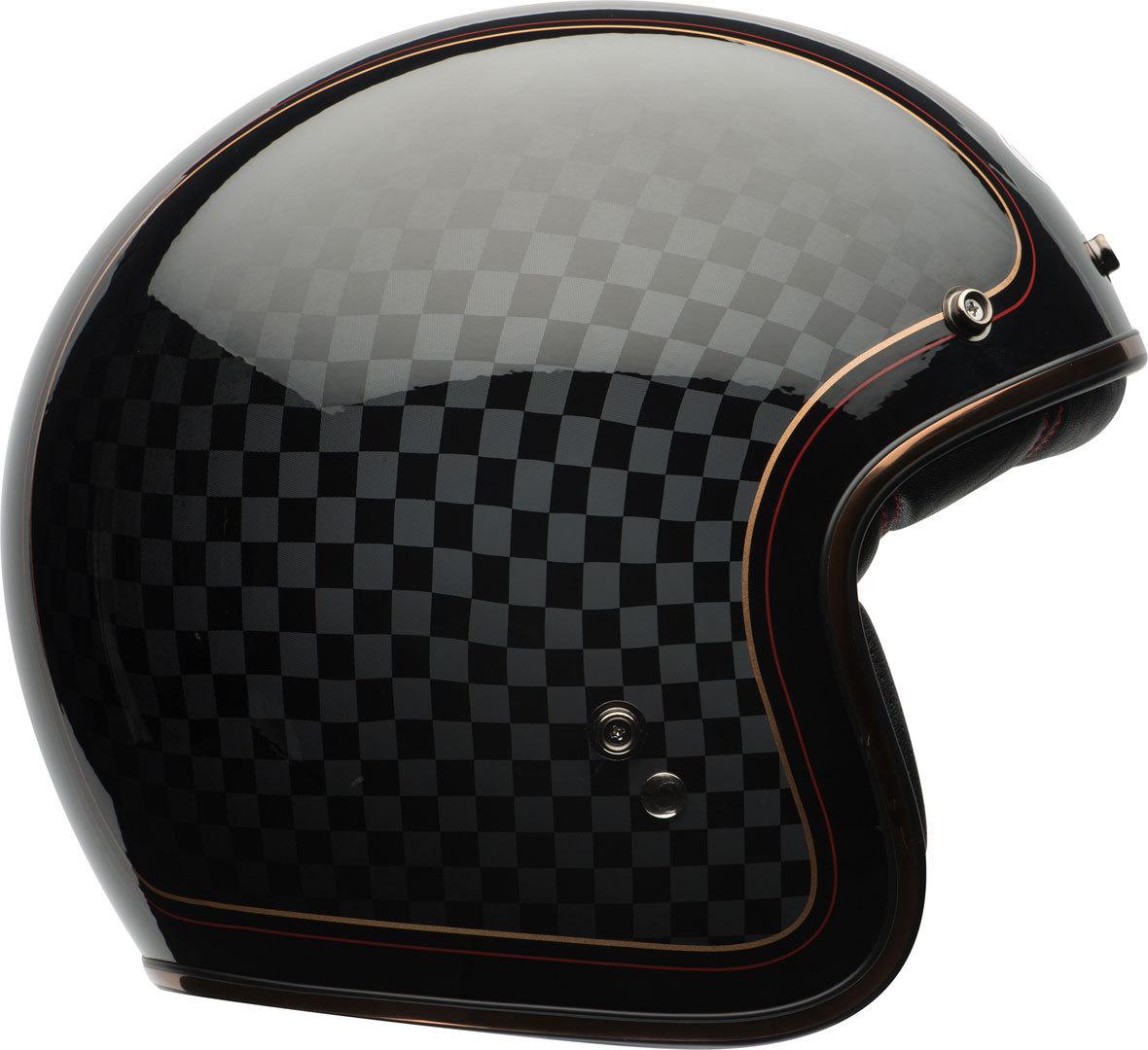 Bell Custom 500 SE RSD Check It Jet Helm, carbon, Größe M, carbon, Größe M