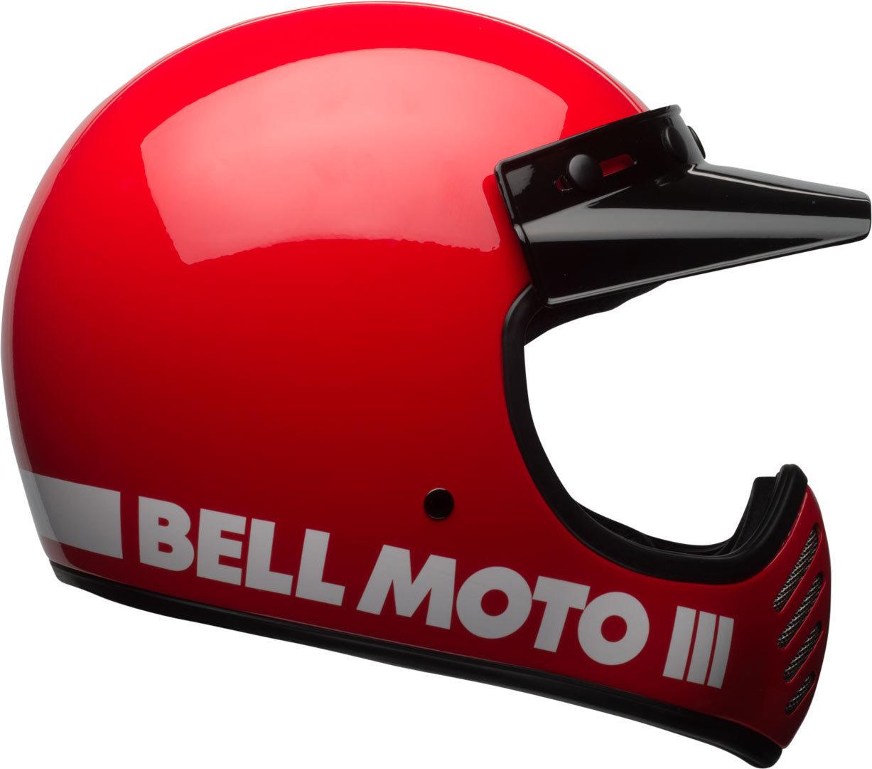 Bell Moto-3 Classic Motocross Helm, rot, Größe S, rot, Größe S