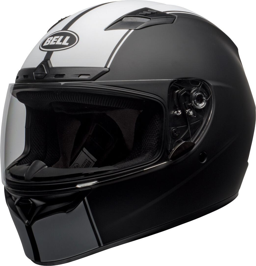Bell Qualifier DLX Mips Rally Helm, schwarz-weiss, Größe M, schwarz-weiss, Größe M