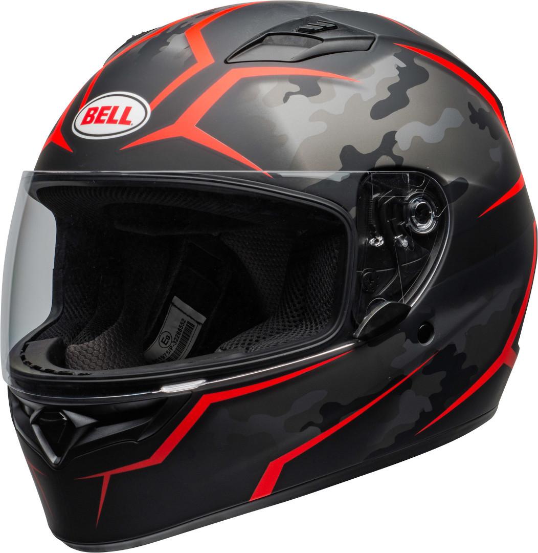 Bell Qualifier Stealth Camo Helm, schwarz-rot, Größe S, schwarz-rot, Größe S