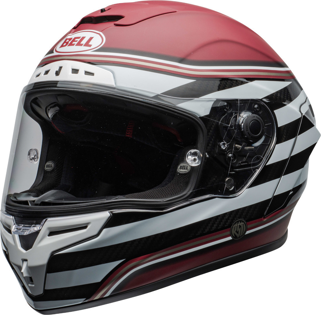Bell Race Star DLX RSD The Zone Helm, weiss-rot, Größe XL, weiss-rot, Größe XL