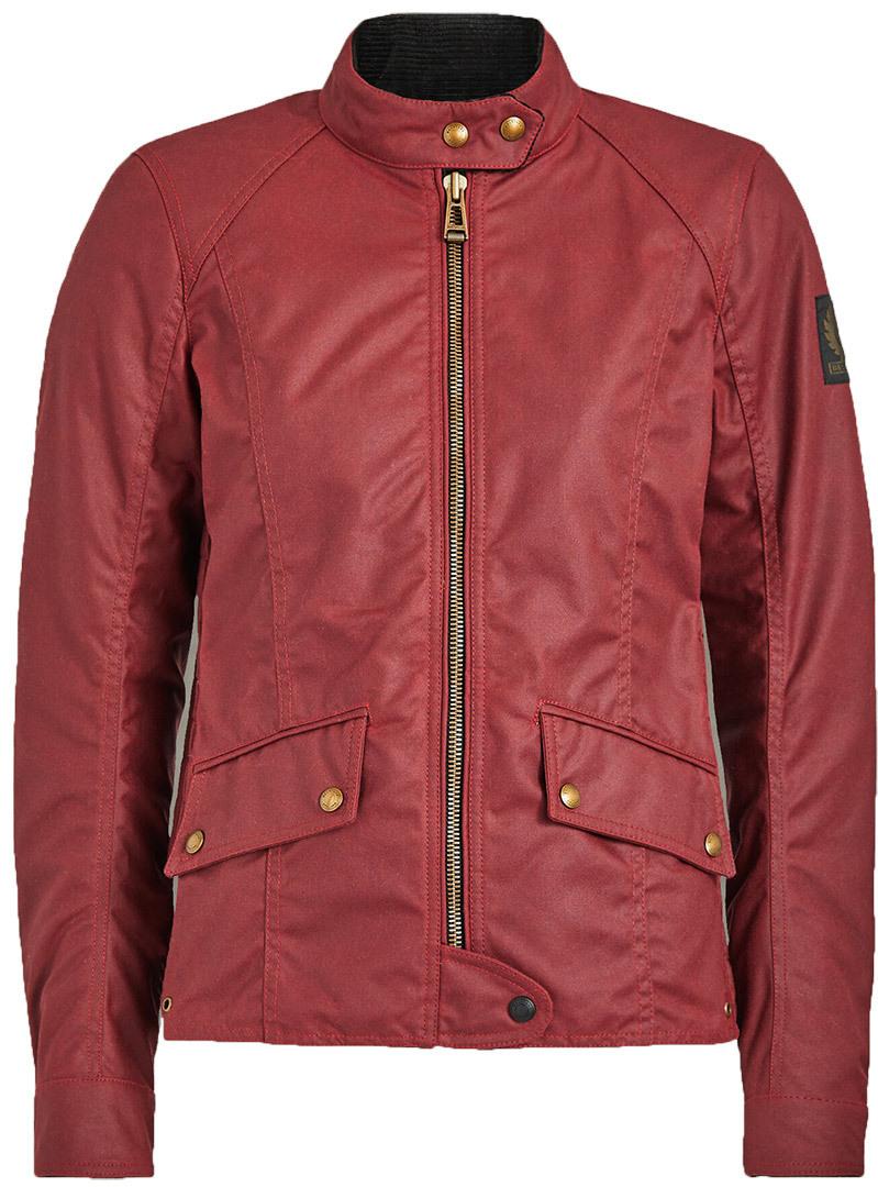 Belstaff Antrim Damen Motorrad Wachsjacke, rot, Größe 42, rot, Größe 42