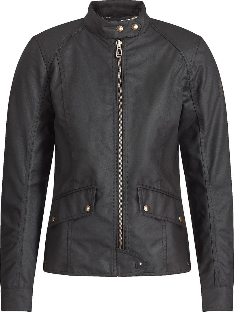 Belstaff Antrim Damen Motorrad Wachsjacke, schwarz, Größe 38, schwarz, Größe 38