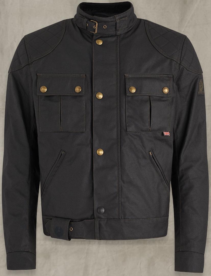 Belstaff Brooklands 2.0 Motorrad Wachsjacke, schwarz, Größe 2XL, schwarz, Größe 2XL