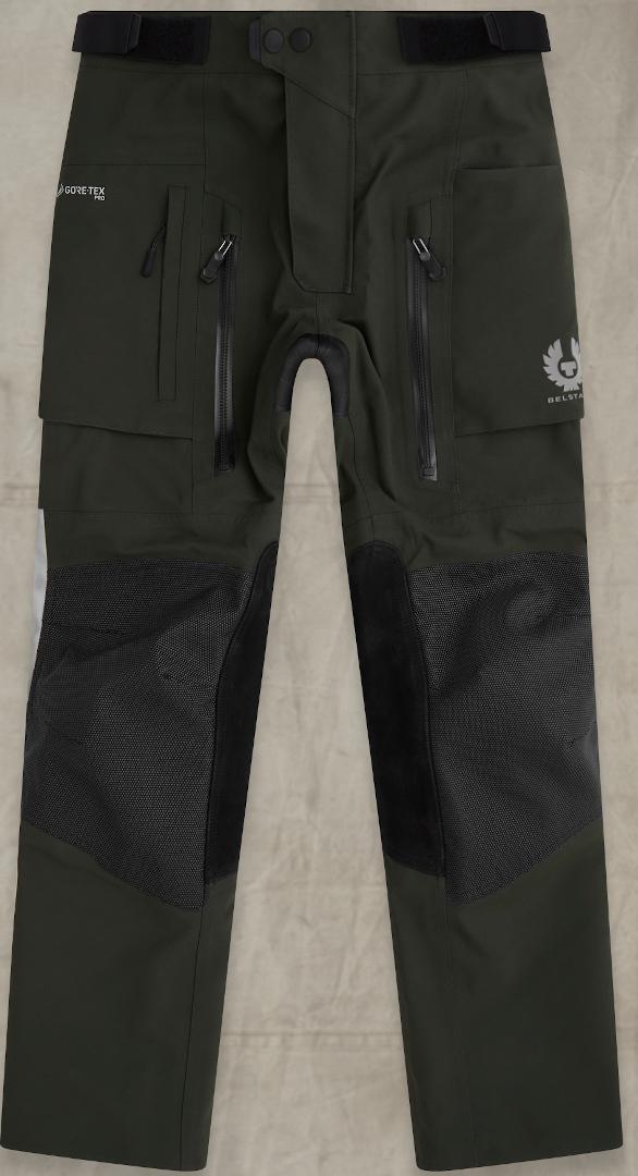 Belstaff Long Way Up Motorrad Textilhose, grün, Größe 54, grün, Größe 54