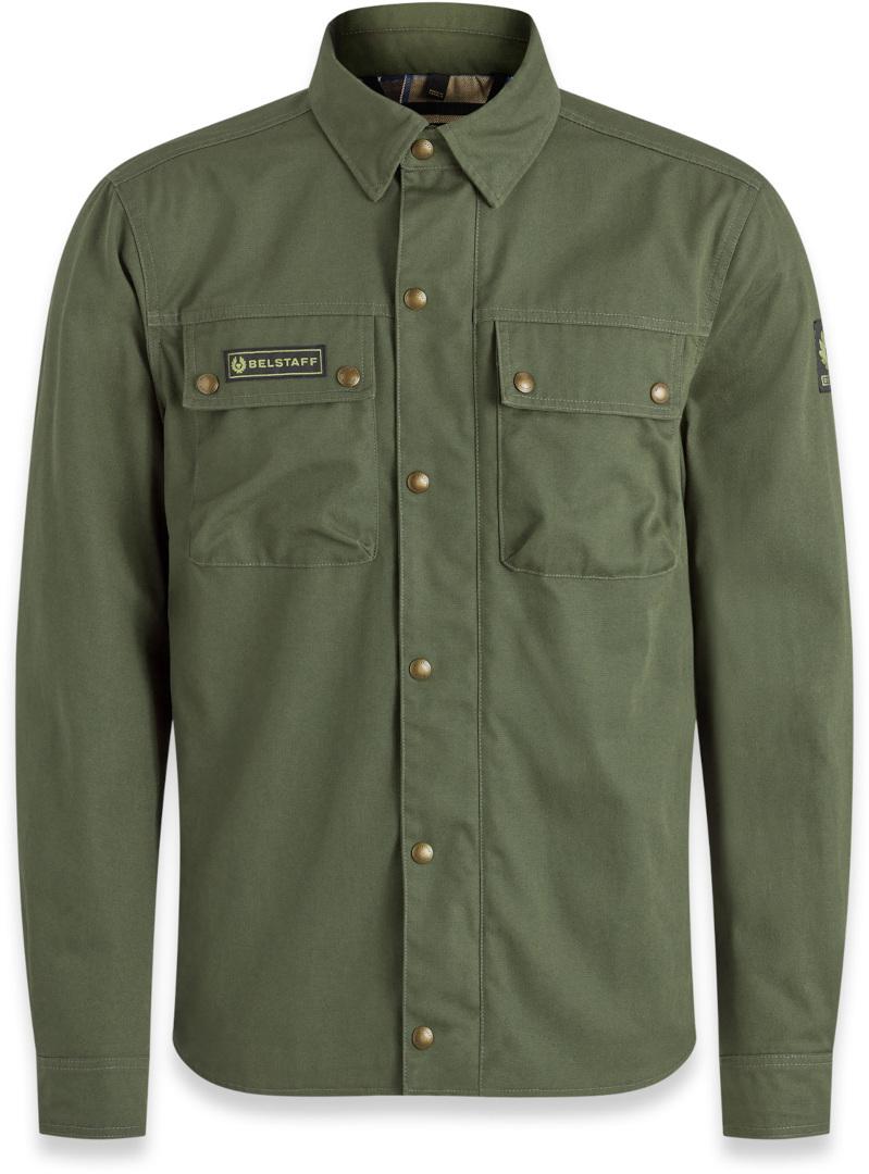 Belstaff Mansion Motorrad Hemd, grün, Größe XL, grün, Größe XL