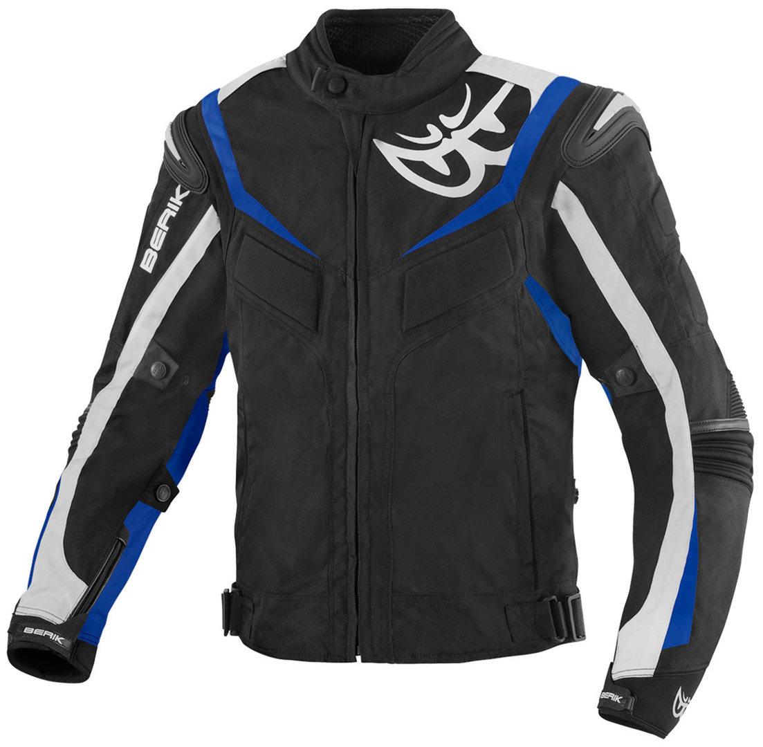 Berik Endurance wasserdichte Motorrad Textiljacke, schwarz-weiss-blau, Größe 48, schwarz-weiss-blau, Größe 48