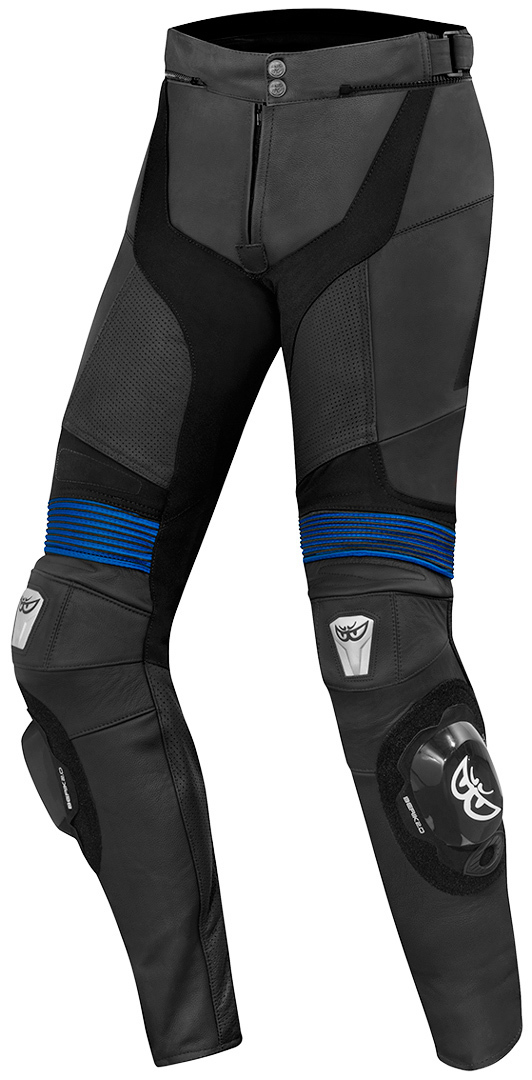 Berik Flexius Motorrad Lederhose, schwarz-blau, Größe 54, schwarz-blau, Größe 54