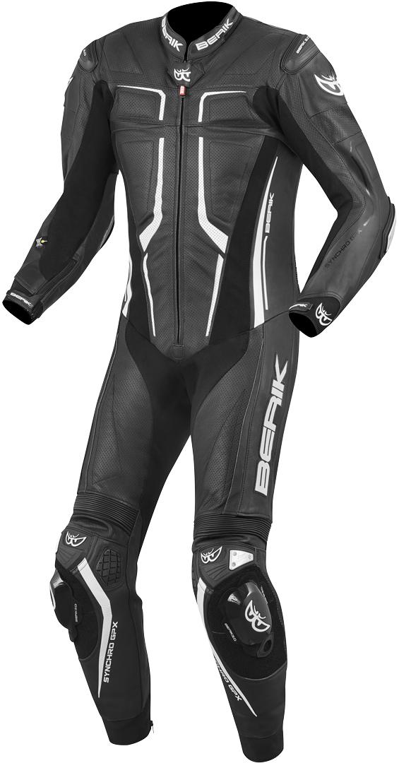 Berik Flumatic Race 1-Teiler Motorrad Lederkombi, schwarz-weiss, Größe 52, schwarz-weiss, Größe 52
