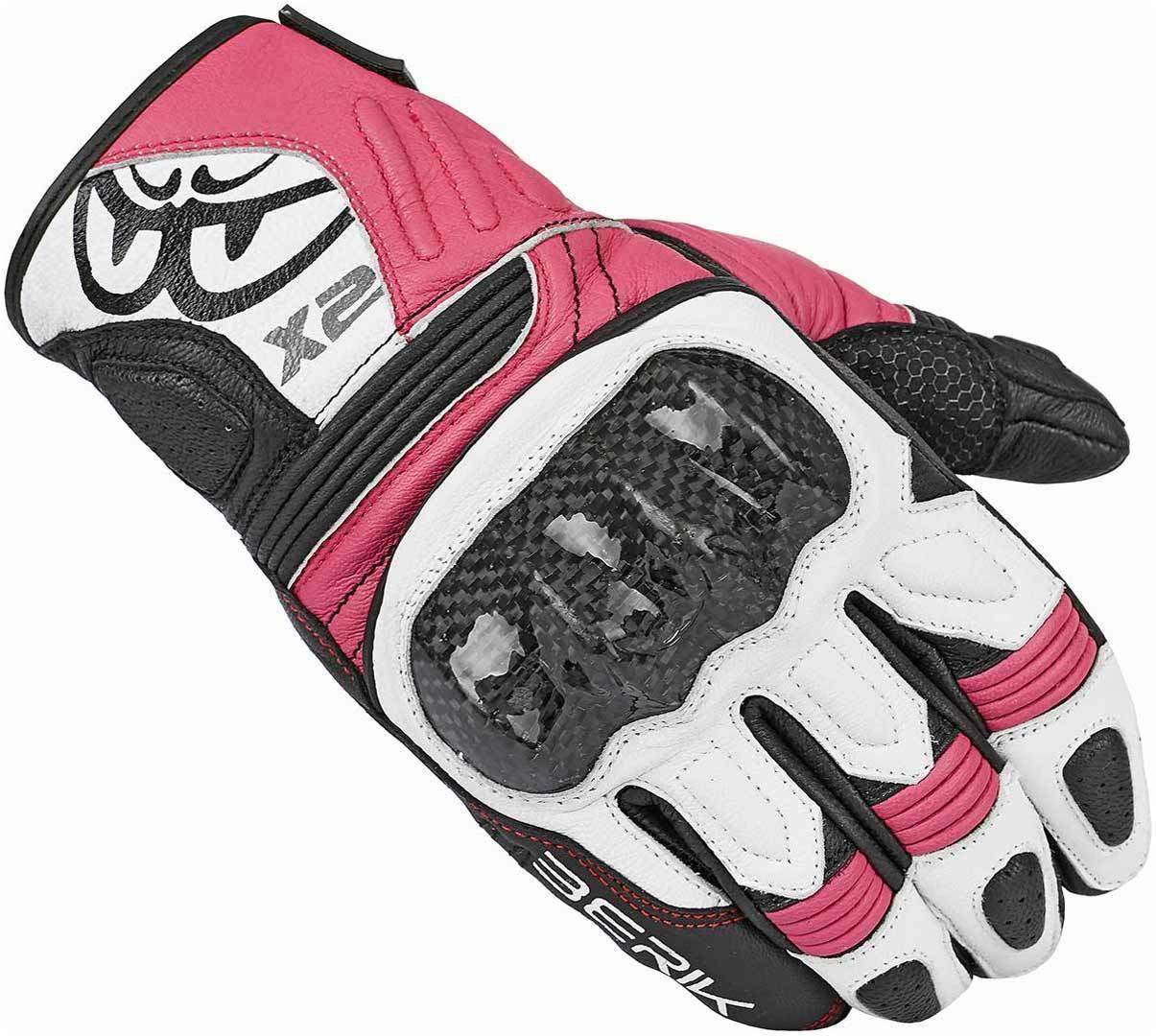 Berik LDX Damen Handschuhe, schwarz-pink, Größe L, schwarz-pink, Größe L