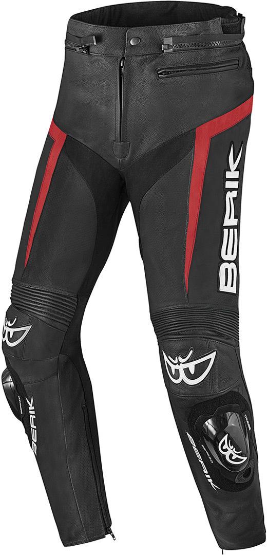Berik Misle Motorrad Lederhose, schwarz-rot, Größe 58, schwarz-rot, Größe 58