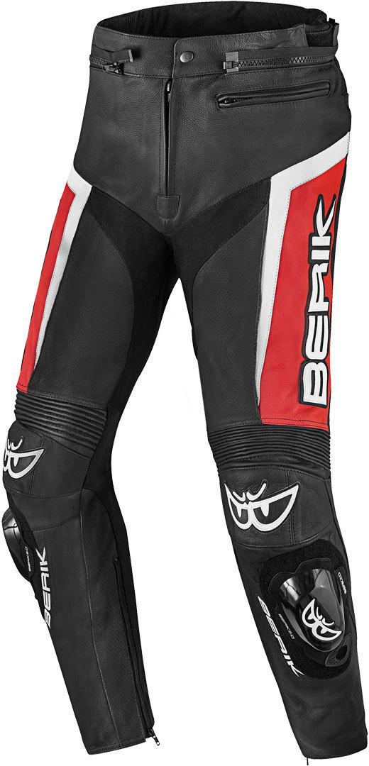 Berik Misle Motorrad Lederhose, schwarz-weiss-rot, Größe 50, schwarz-weiss-rot, Größe 50