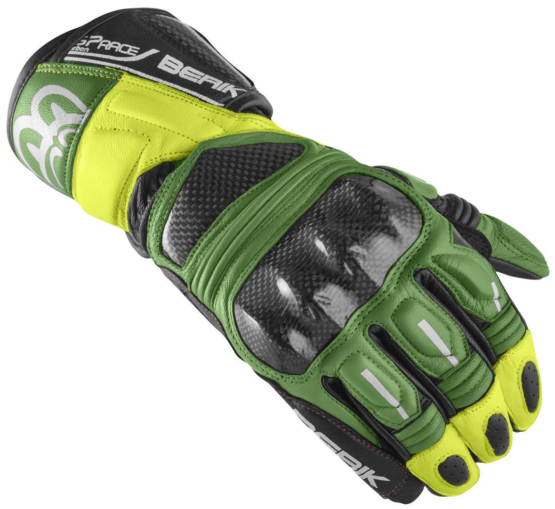 Berik Namib Pro Motorradhandschuhe, schwarz-grün-gelb, Größe XL, schwarz-grün-gelb, Größe XL