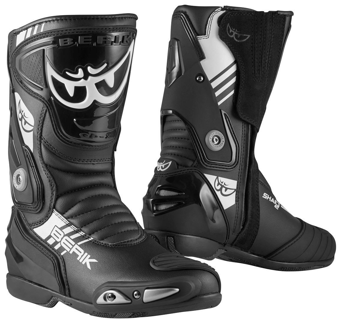 Berik Shaft 3.0 Motorradstiefel, schwarz-weiss, Größe 43, schwarz-weiss, Größe 43