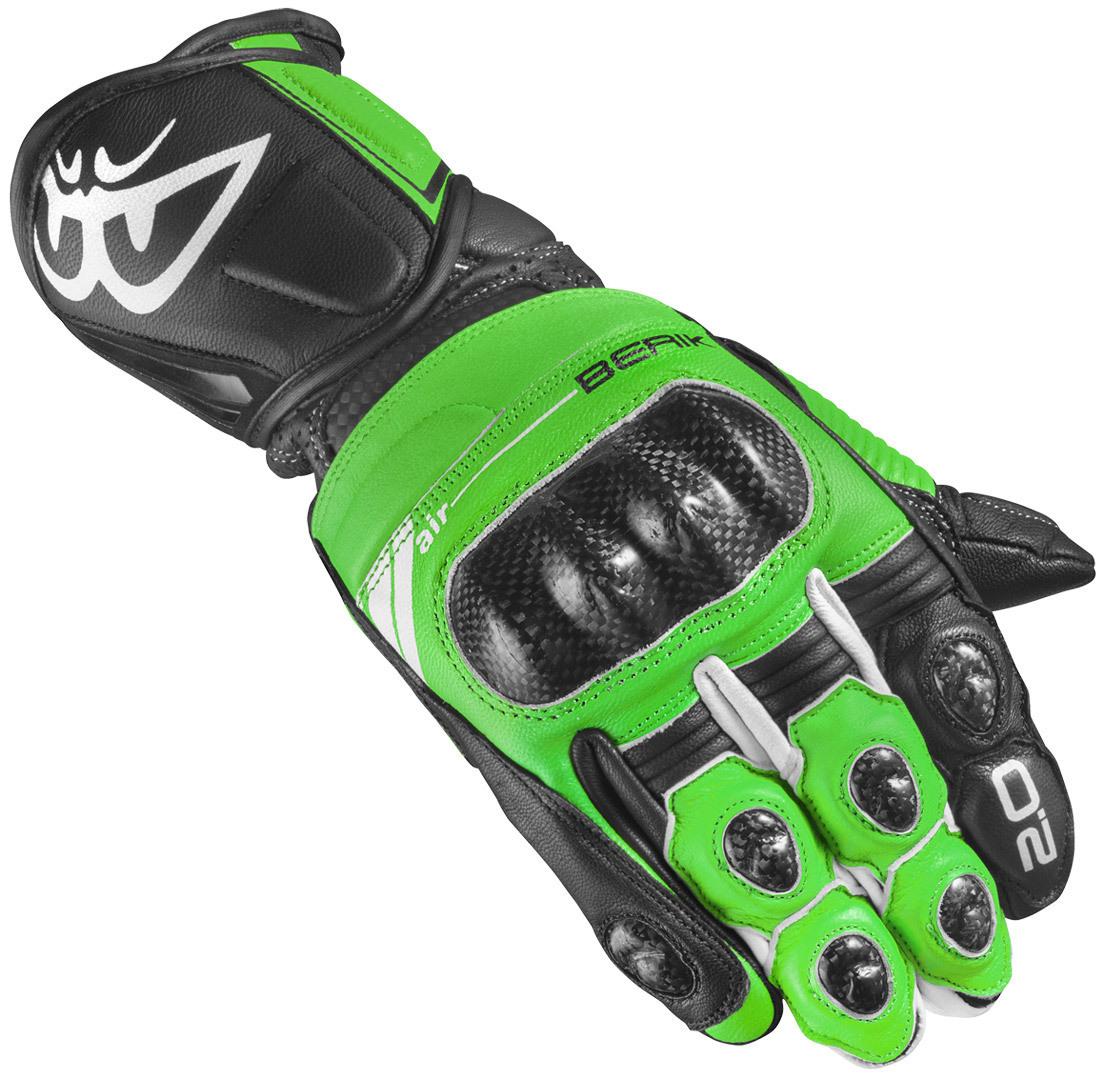 Berik ST-Evo Motorradhandschuhe, schwarz-grün, Größe S, schwarz-grün, Größe S
