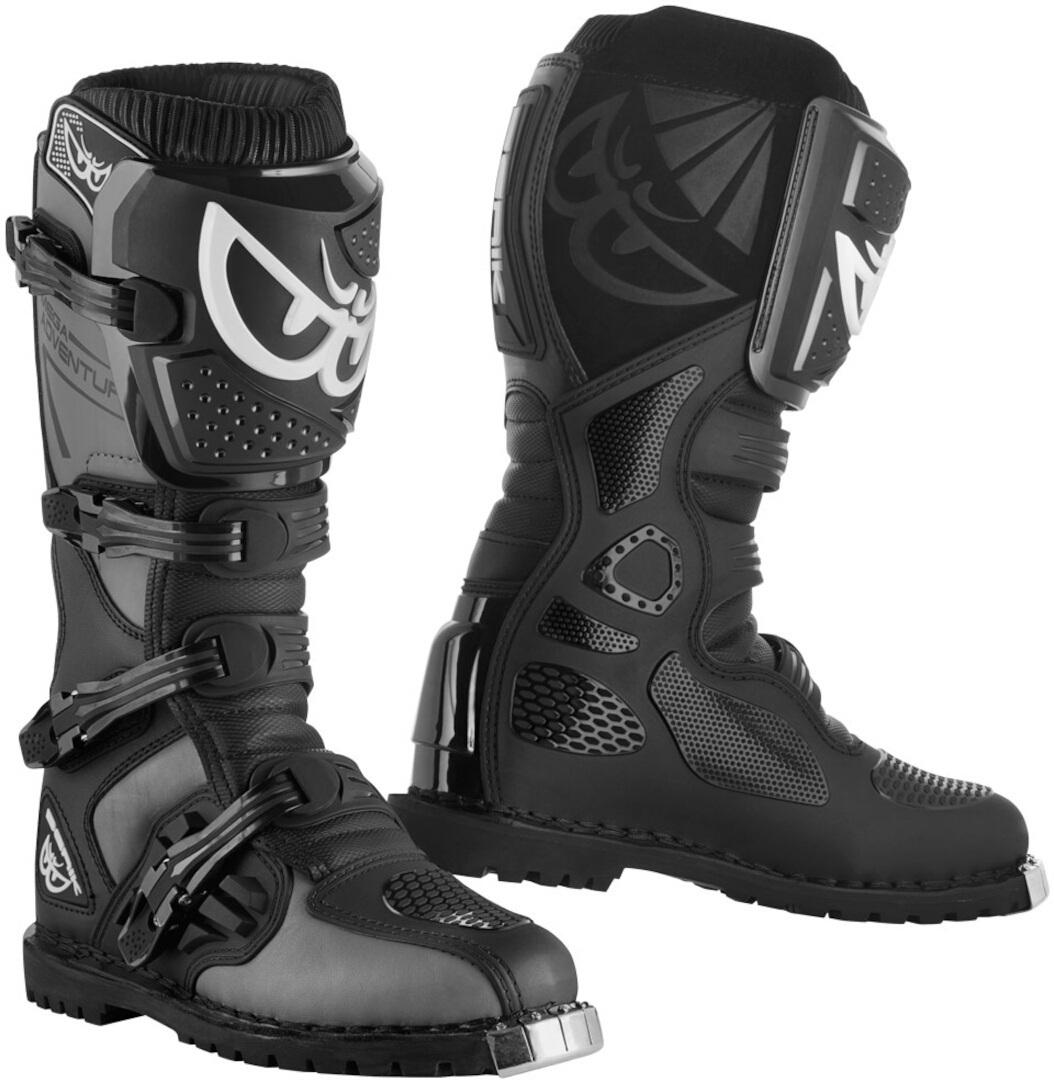 Berik Terrain Adventure Enduro / MX Stiefel, schwarz-grau, Größe 46, schwarz-grau, Größe 46