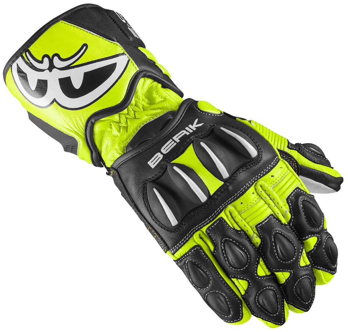 Berik Thunar Evo Motorradhandschuhe, schwarz-gelb, Größe S, schwarz-gelb, Größe S