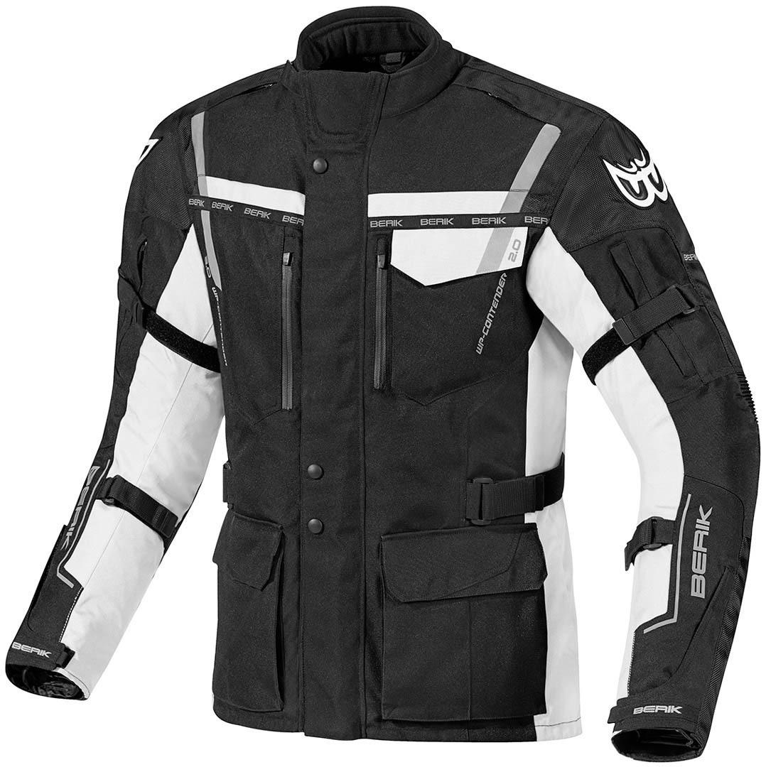 Berik Torino wasserdichte Motorrad Textiljacke, schwarz-weiss, Größe 50, schwarz-weiss, Größe 50