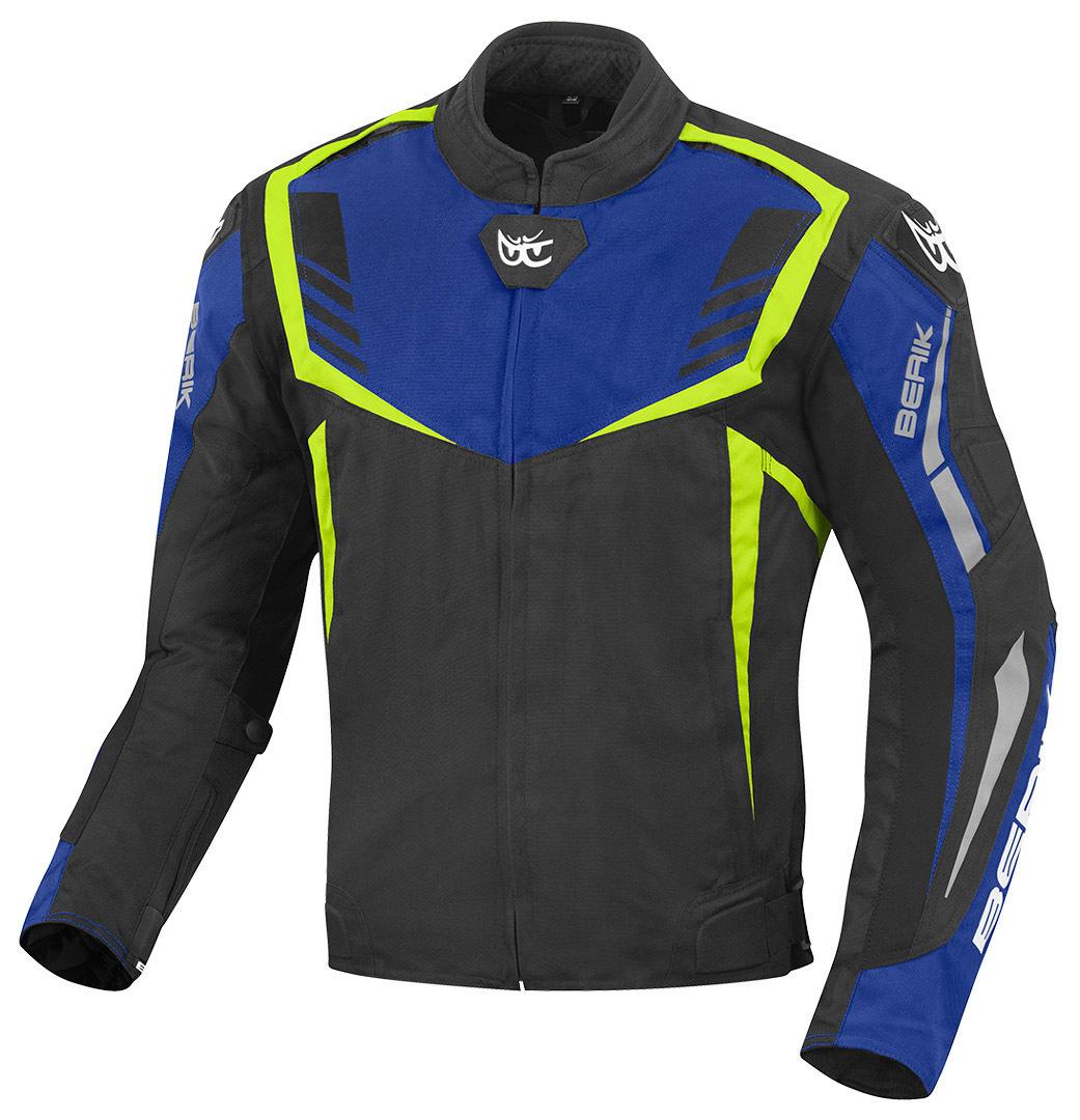 Berik Toronto Motorrad Texiljacke, schwarz-blau-gelb, Größe 58, schwarz-blau-gelb, Größe 58