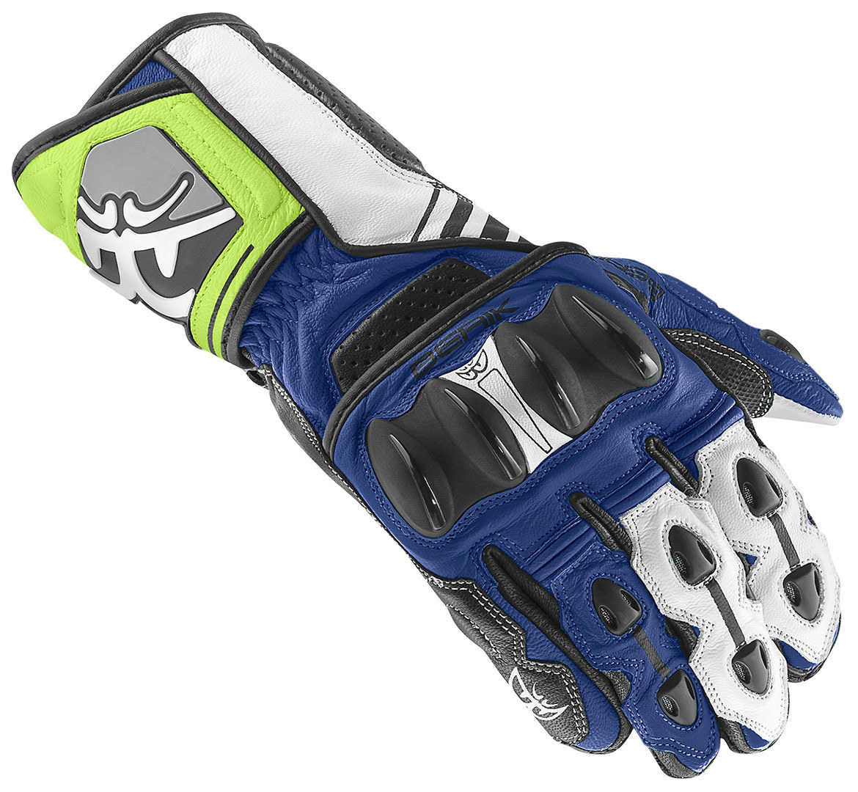 Berik Track Motorradhandschuhe, schwarz-weiss-blau, Größe M, schwarz-weiss-blau, Größe M