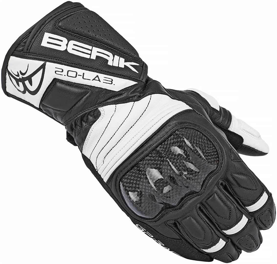 Berik Zoldar Motorradhandschuhe, schwarz-weiss, Größe L, schwarz-weiss, Größe L