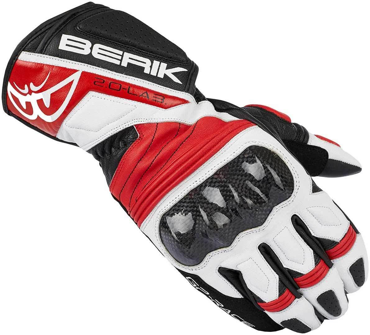 Berik Zoldar Motorradhandschuhe, schwarz-weiss-rot, Größe S, schwarz-weiss-rot, Größe S