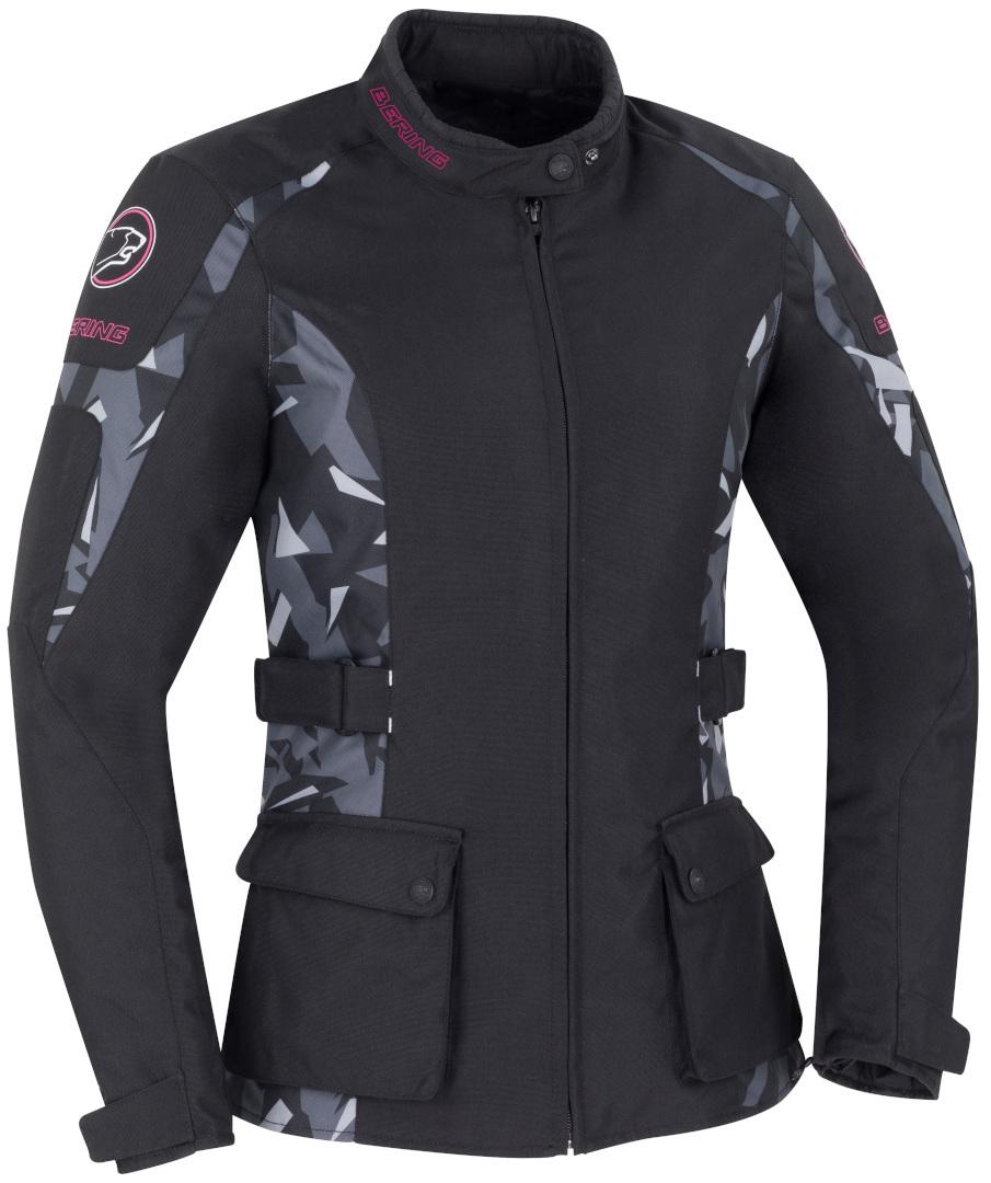 Bering April Damen Motorrad Textiljacke, schwarz-mehrfarbig, Größe 3XS 0 32 34, schwarz-mehrfarbig, Größe 3XS 0 32 34