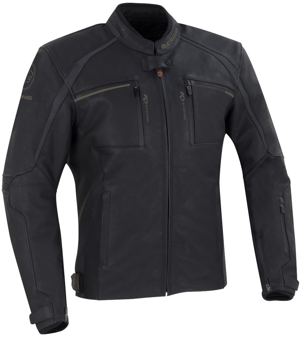 Bering Mendes Motorrad Lederjacke, schwarz, Größe 4XL, schwarz, Größe 4XL