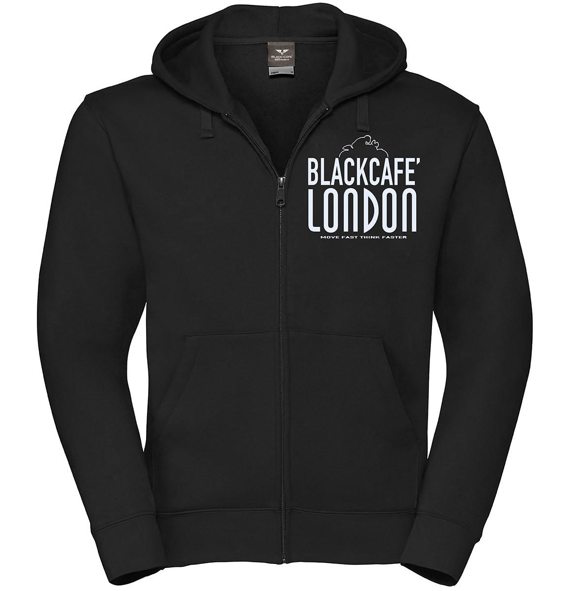 Black-Cafe London Classic Zip Hoodie, schwarz-weiss, Größe 3XL, schwarz-weiss, Größe 3XL