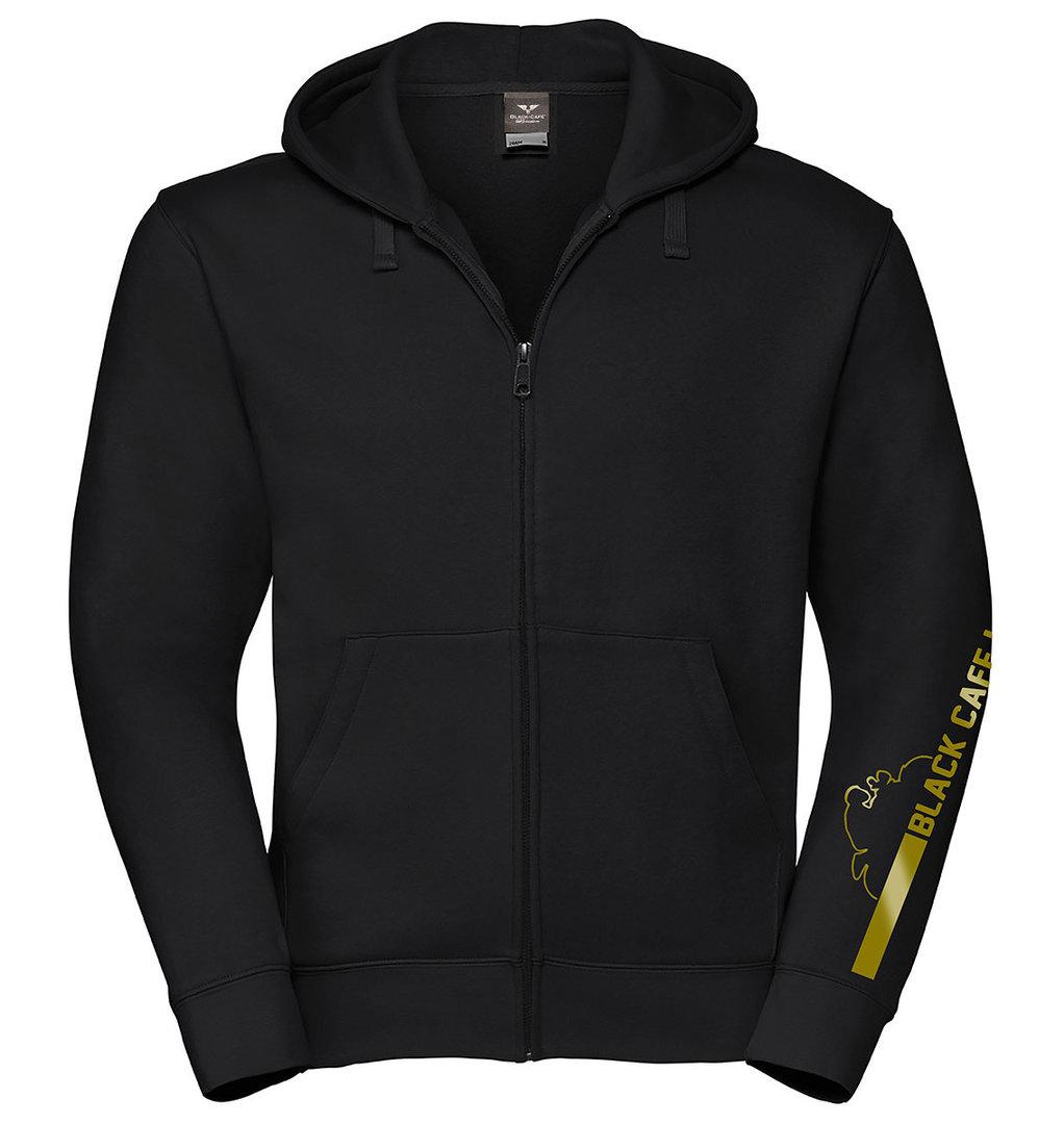 Black-Cafe London Retro Stripe Zip Hoodie, schwarz-gold, Größe L, schwarz-gold, Größe L