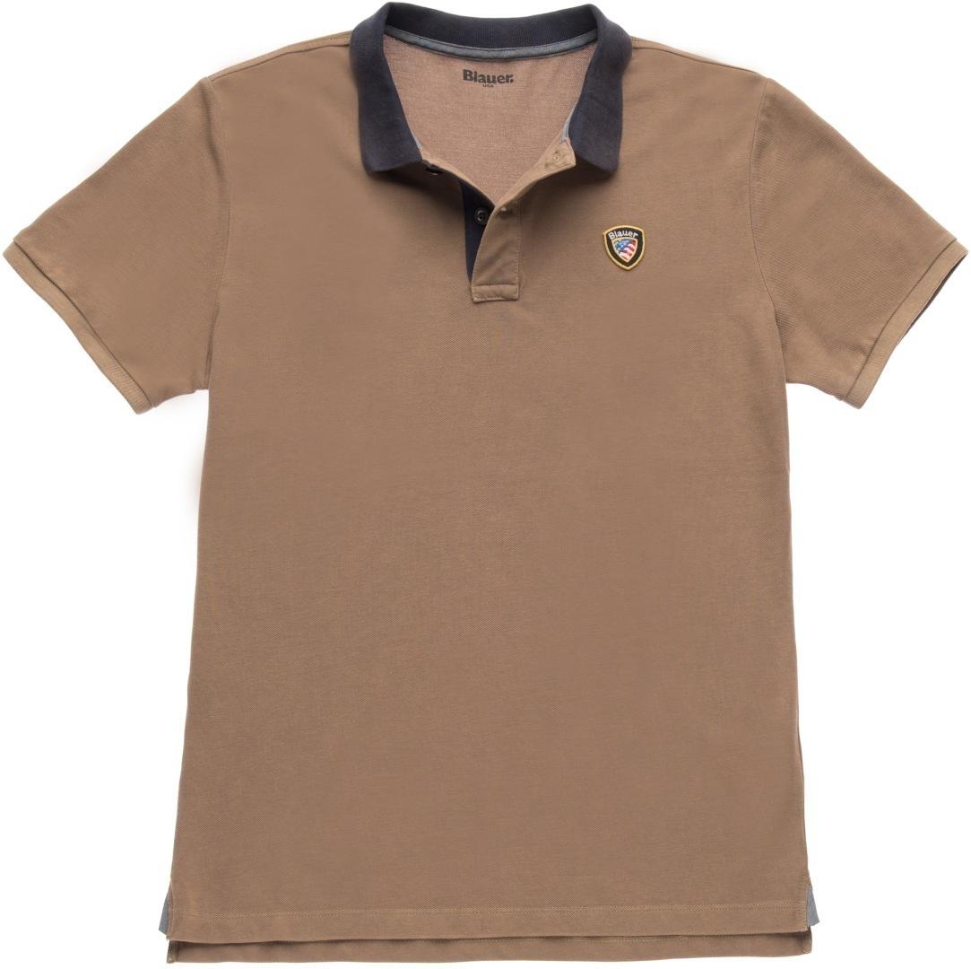 Blauer USA Vintage Poloshirt, braun, Größe S, braun, Größe S