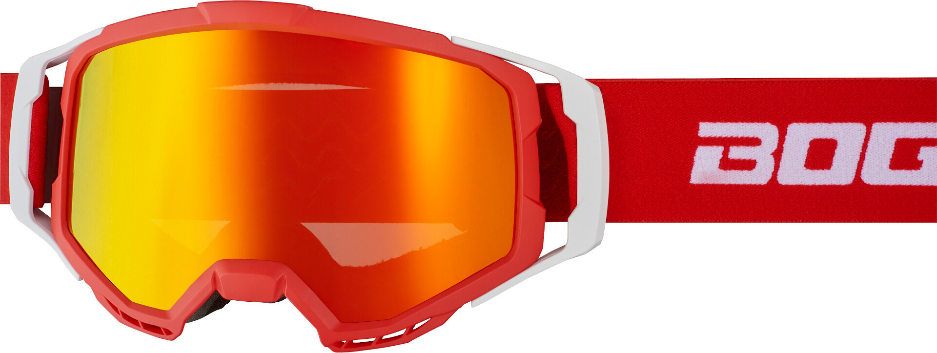 Bogotto B-1 Motocross Brille, weiss-rot, weiss-rot