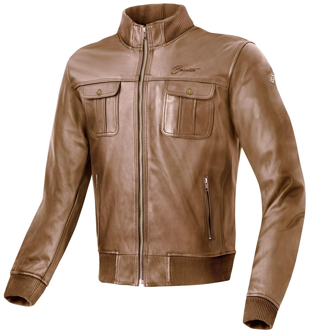 Bogotto Brooklyn Motorrad Lederjacke, braun, Größe 58, braun, Größe 58