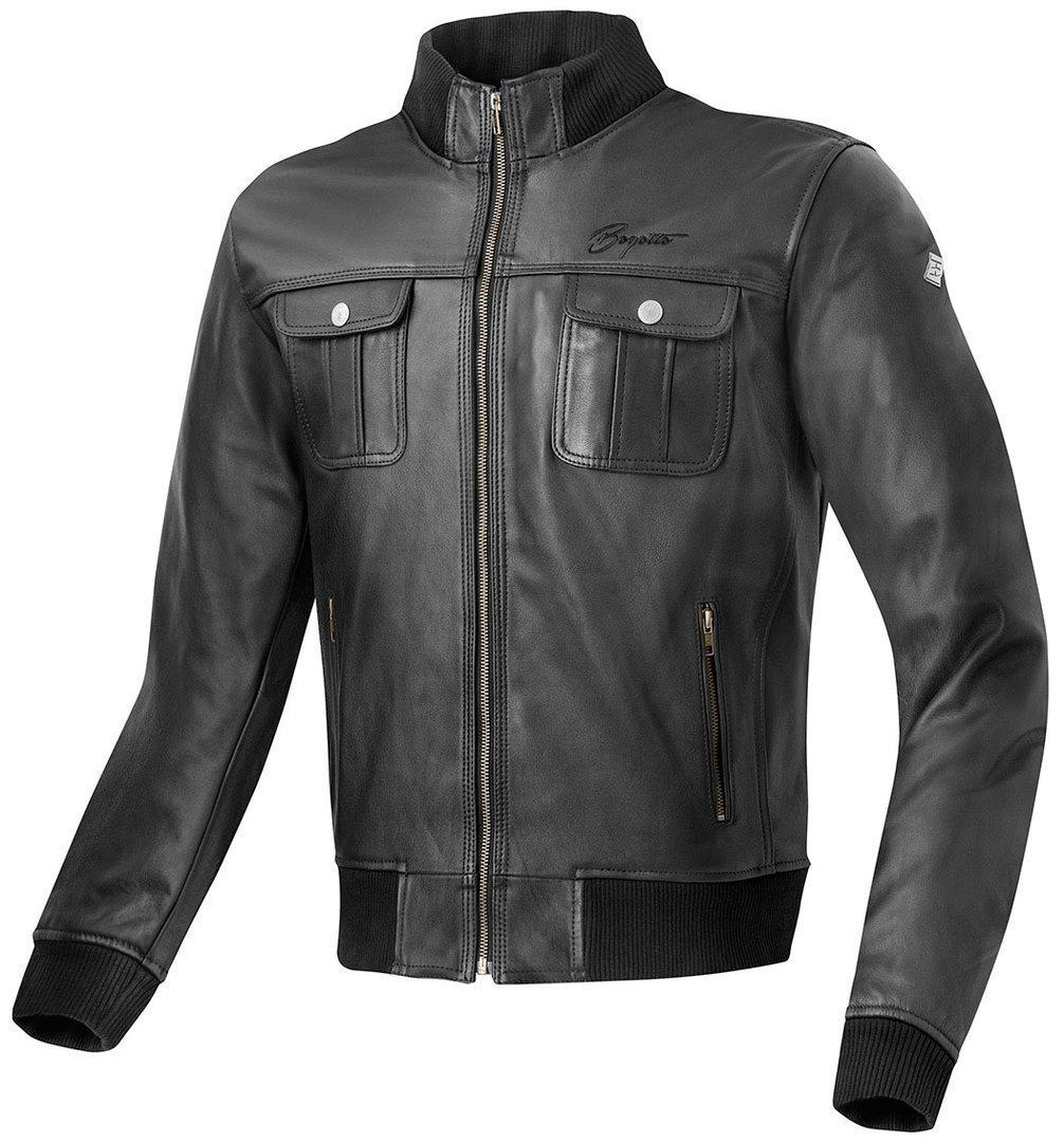 Bogotto Brooklyn Motorrad Lederjacke, schwarz, Größe 60, schwarz, Größe 60
