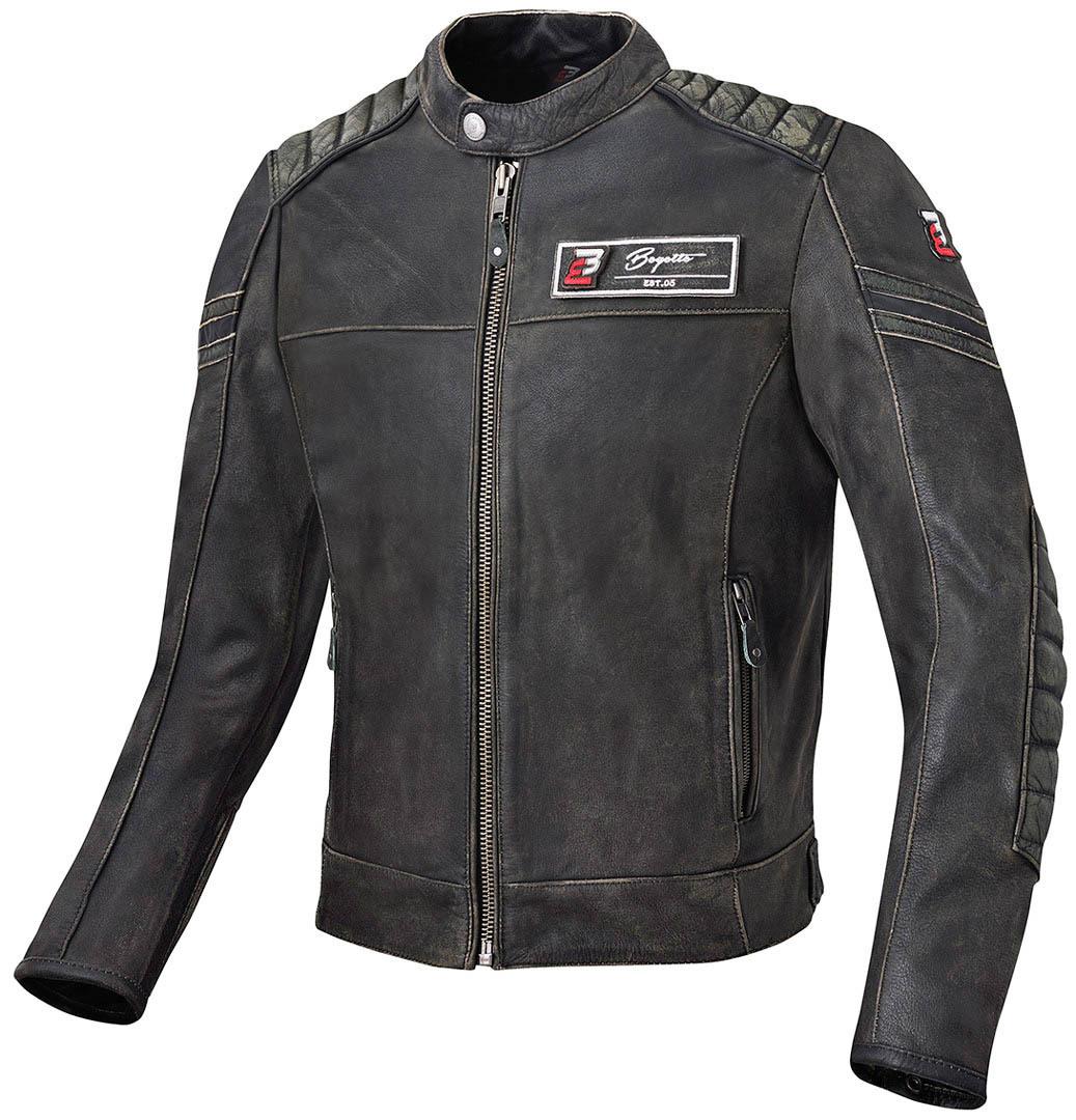 Bogotto Detroit Motorrad Lederjacke, Größe 54, Größe 54